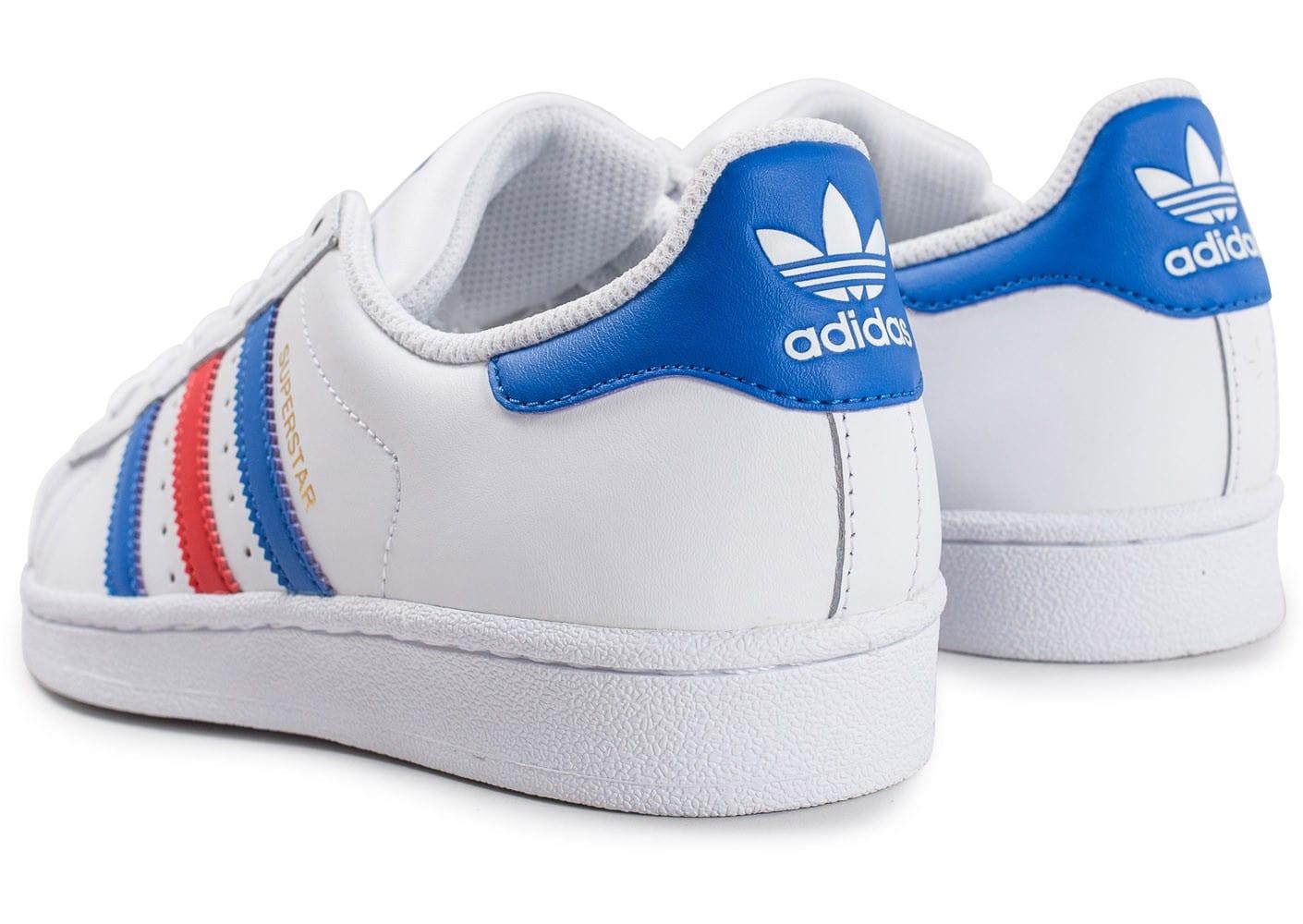adidas femme bleu blanc rouge